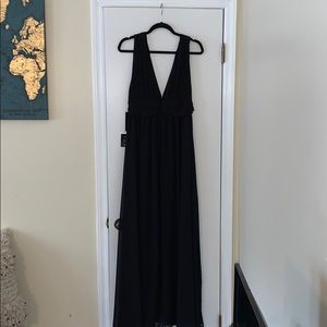 Lulus Heavenly Hues Black Maxi Dress Sz Large NWT